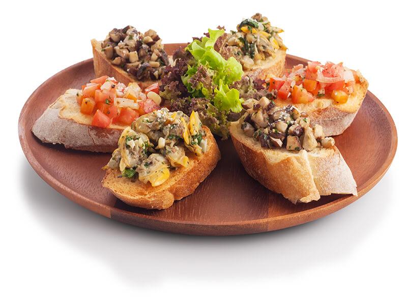 Bruschetta with Sautéed Mushroom