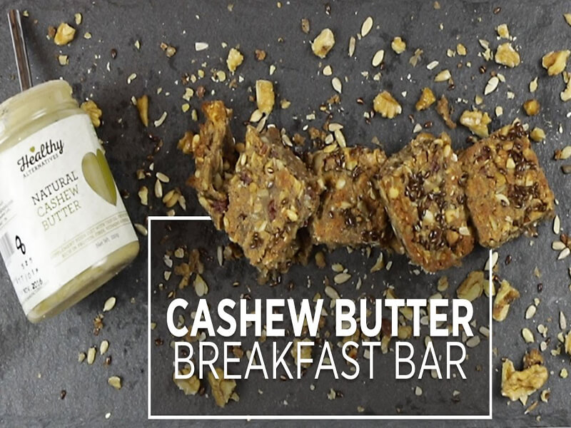 Cashew Butter Breakfast Bar