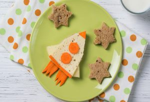 Kids' morning toast food art