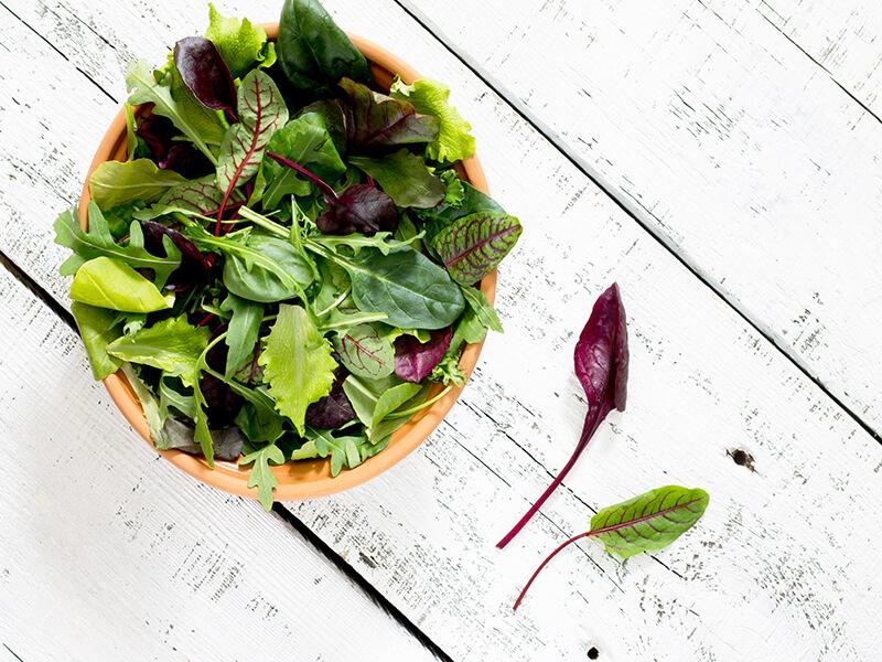 Scintillating Salad Leaves