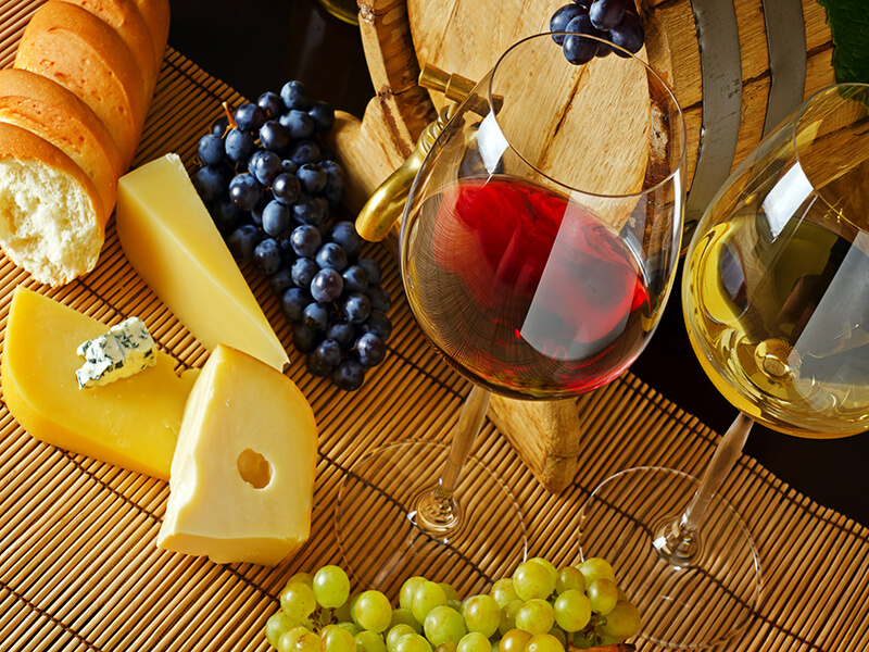 Wine and cheese, a match made in heaven