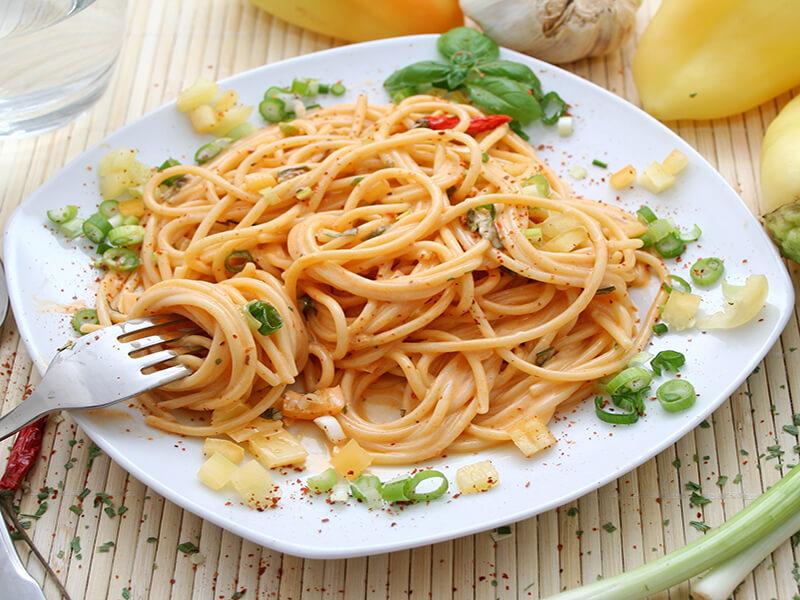 Long thin pasta