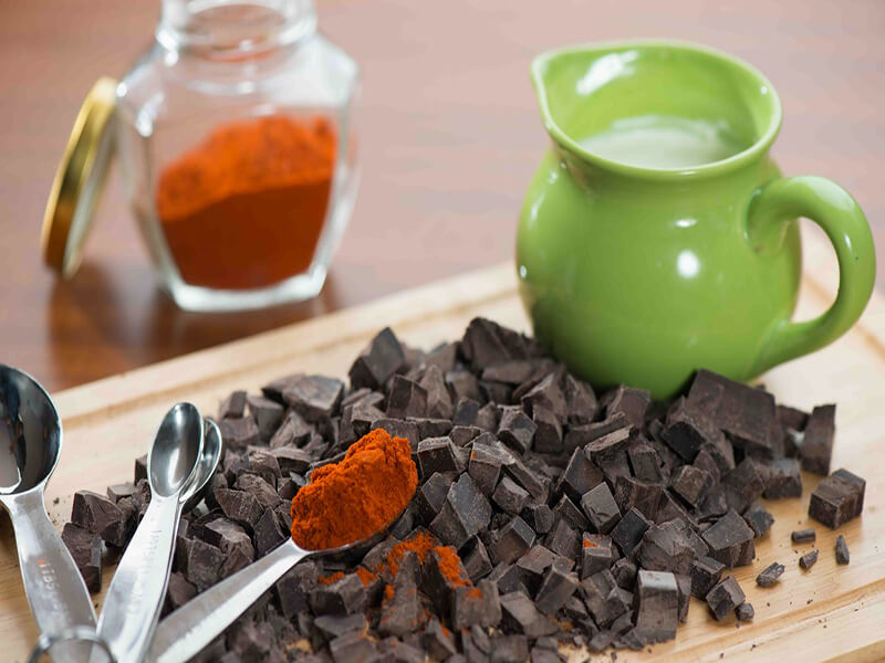 Recipe Chilli Chocolate Fondue