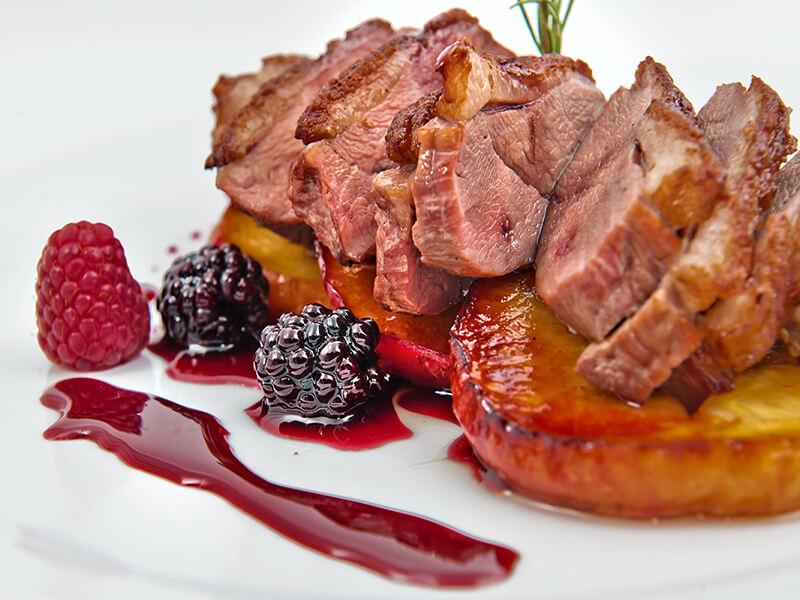 berry with pork