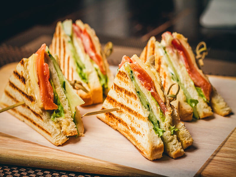 Pan Fried Vegetable Sandwich