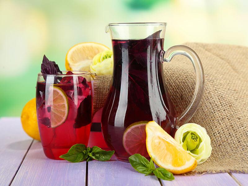 Black Plum ginger Lemonade