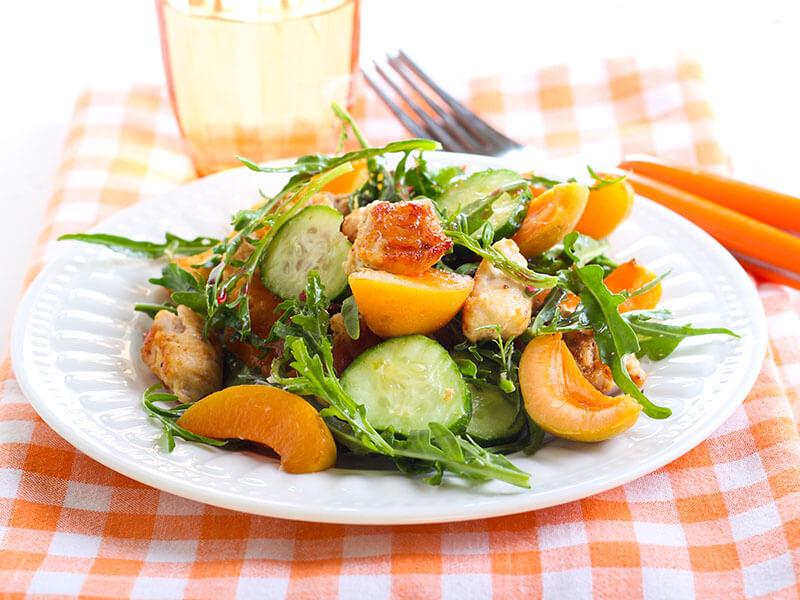 Apricot Nectarine Caprese Salad