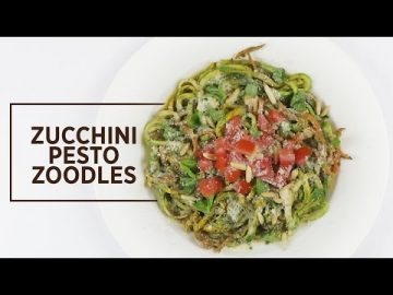 What's Cooking - Zucchini Pesto Zoodles