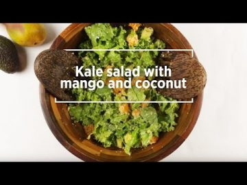 Kale Salad with Mango & Coconut