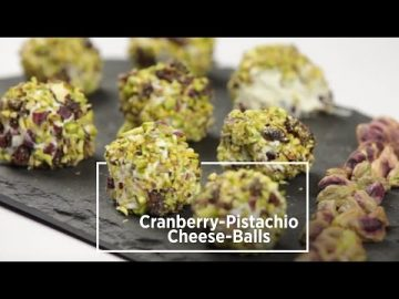 Cranberry Pistachio Cheese Balls