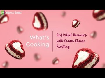 What's Cooking - Red Velvet Brownies with Cream Cheese Frosting