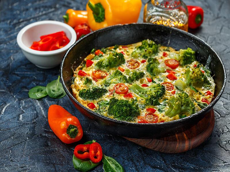 Broccoli Spirulina Frittata