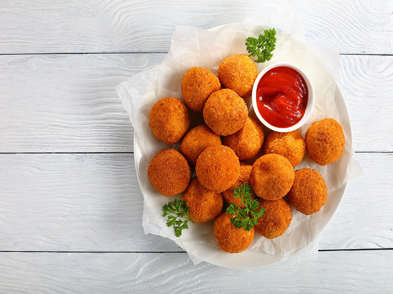 German Sauerkraut Potato Balls
