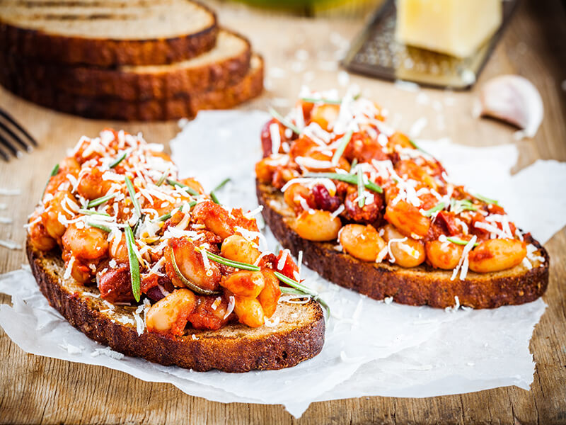 Grilled Beans on Toast